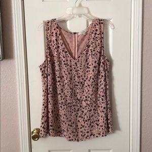 Nordstrom Sejour Pink Sleeveless Blouse Top